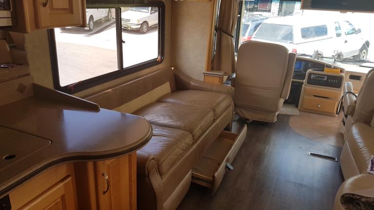 Sofa in our Monaco motor coach