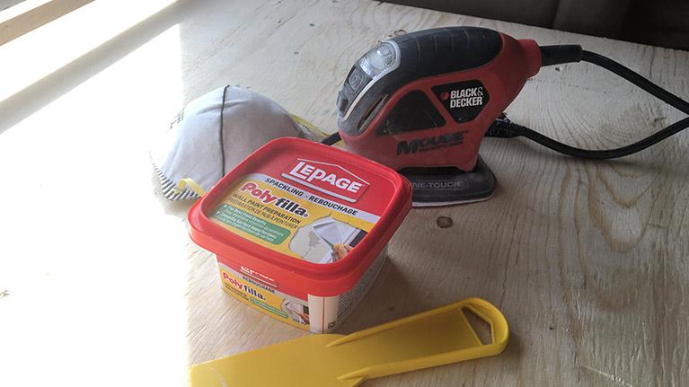 Our little sander for the smaller jobs