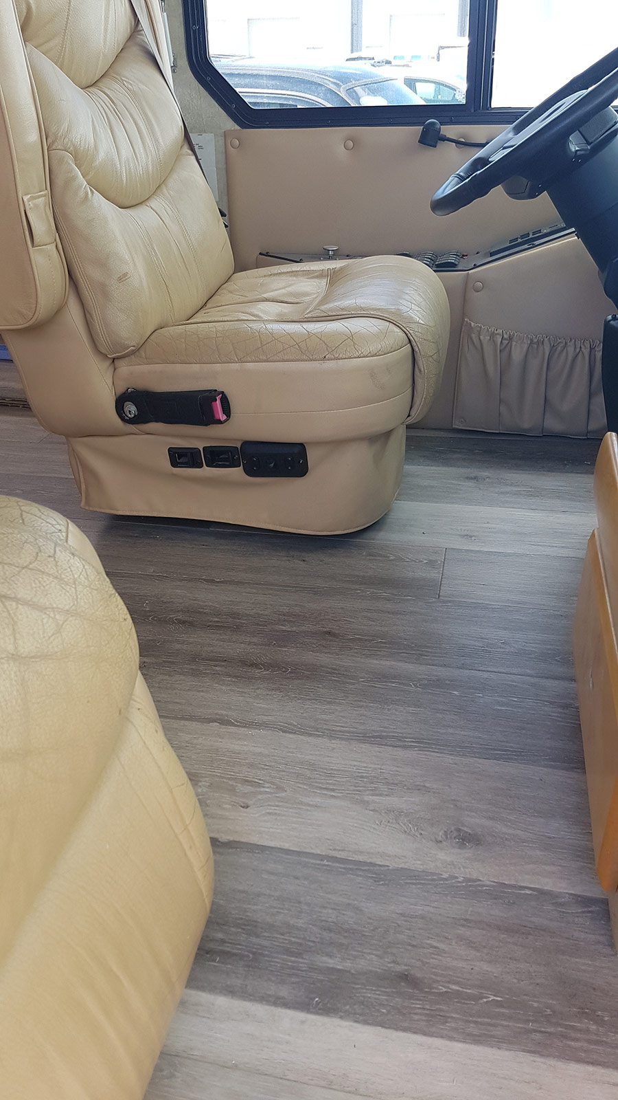 The new flooring in our Monaco, front cab