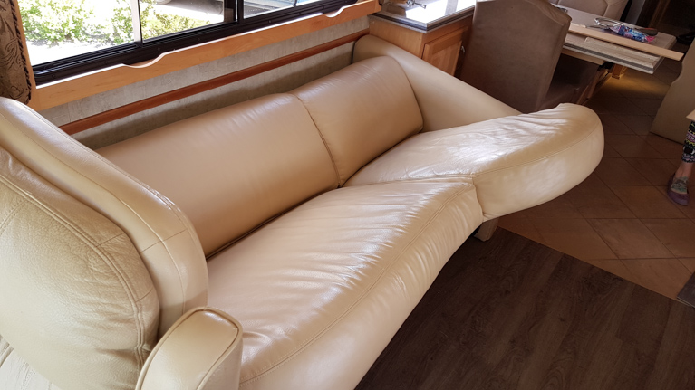The other couch in our Monaco motor coach