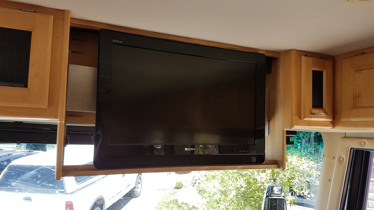 The TV that came with our Monaco motor coach