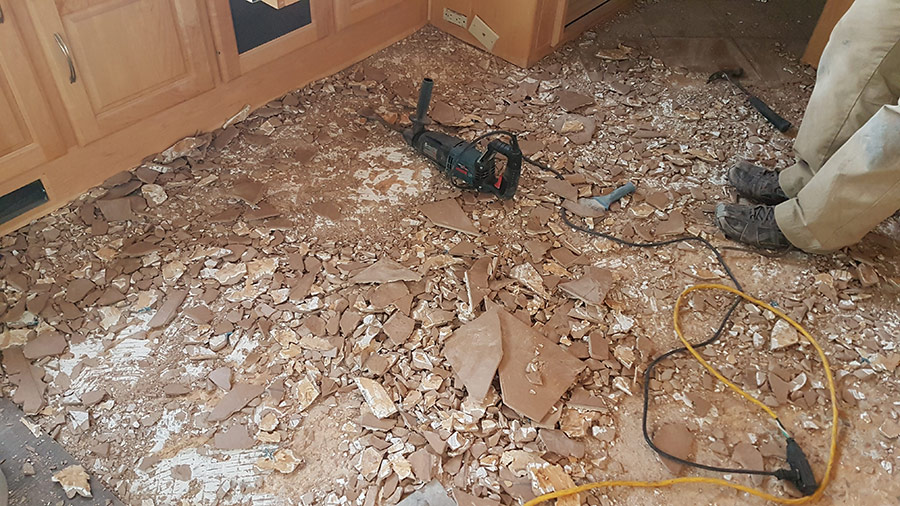 Demolition of the floor in our Monaco