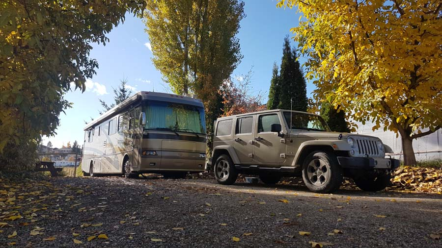 Explorker2 parked at Orchard Hill RV in Kelowna