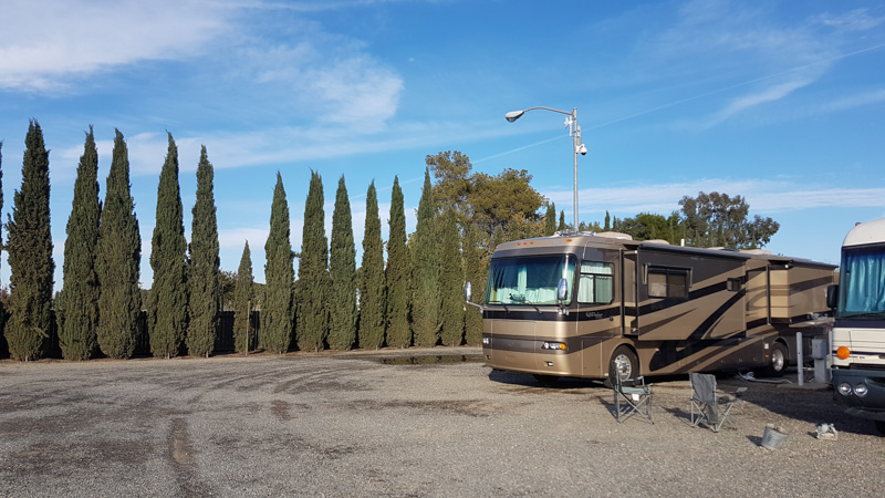 Explorker2 parked at Cal Expo RV Park in Sacramento, CA