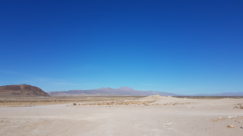 From the Trona Pinnacles
