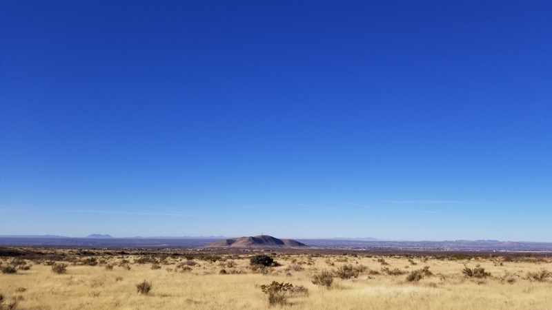 The view from our coach at the Sierra Vista Trail BLM