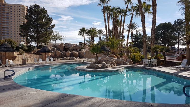 The family pool at Oasis RV Park