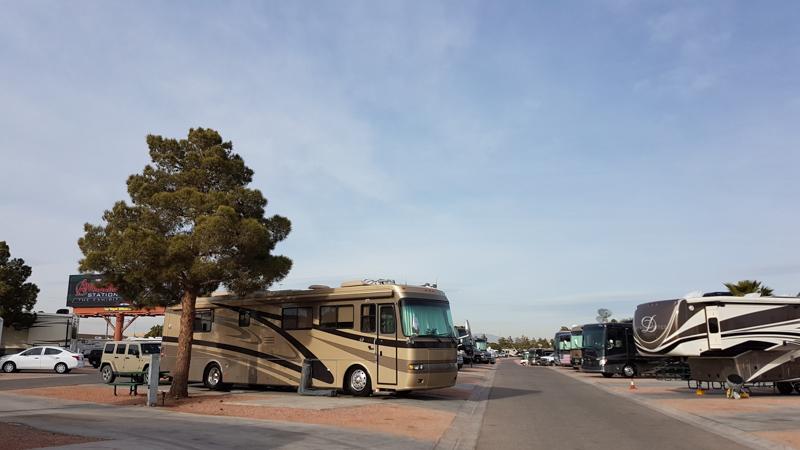 Explorker2 at Oasis RV Park in Las Vegas, spot 155