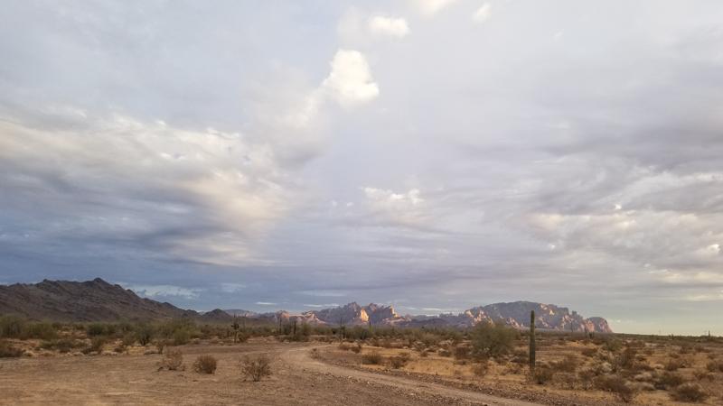 Sunset at the BLM near Quartzsite, AZ