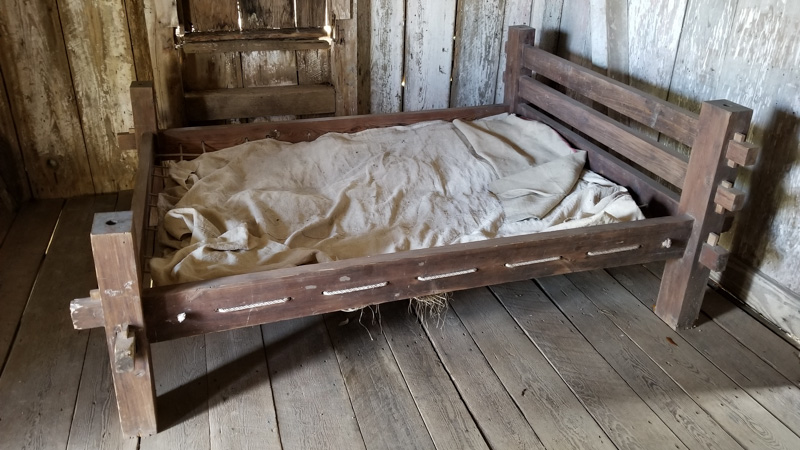 Bed at the Whitney Plantation