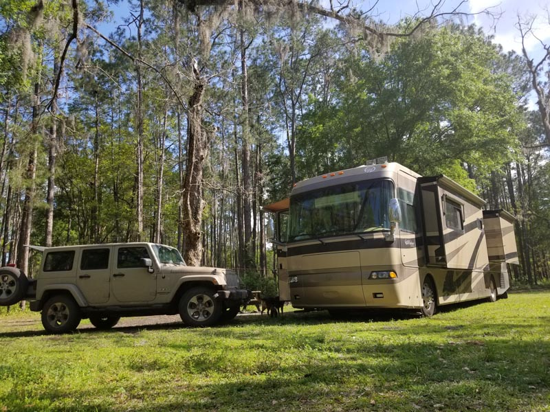 Free Camping in Lake City Florida at Cobb Hunt Camp