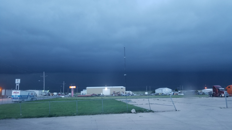 Parked in Colby, KS with a storm coming in