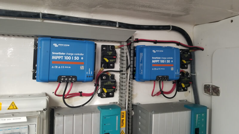 Solar controllers installed in the right place