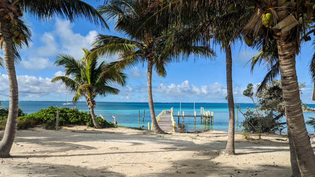 A beach on Man-O-War Cay in The Bahamas