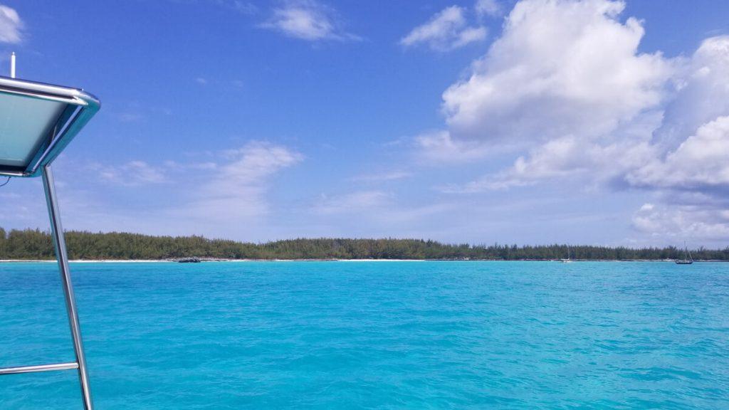 Beautiful blue water in The Bahamas