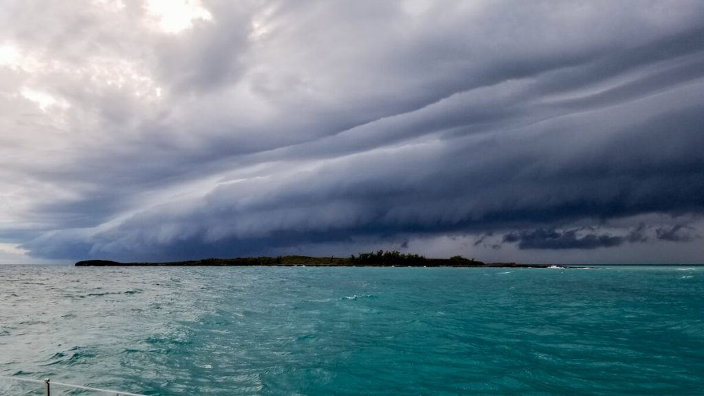 Storm rolling in, in the Bahamas