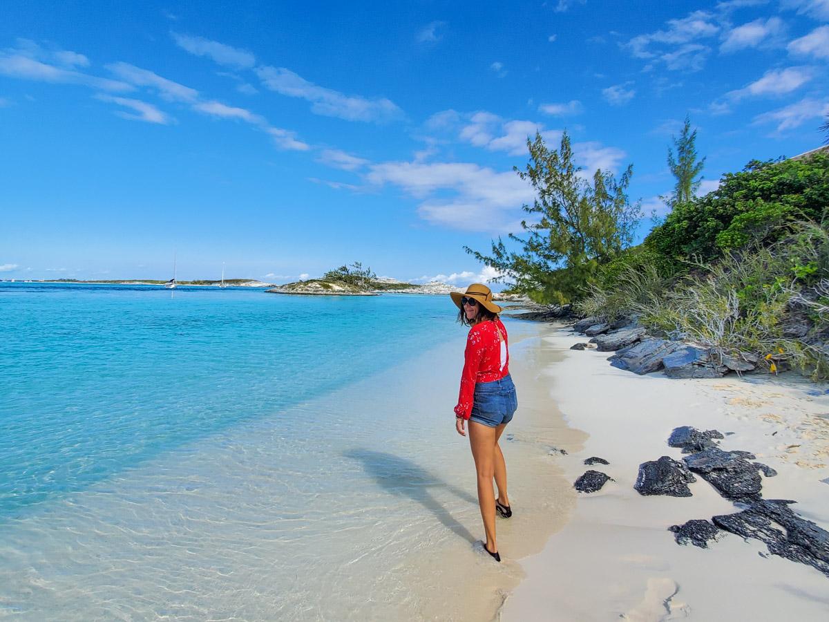 Leanne walking on beach