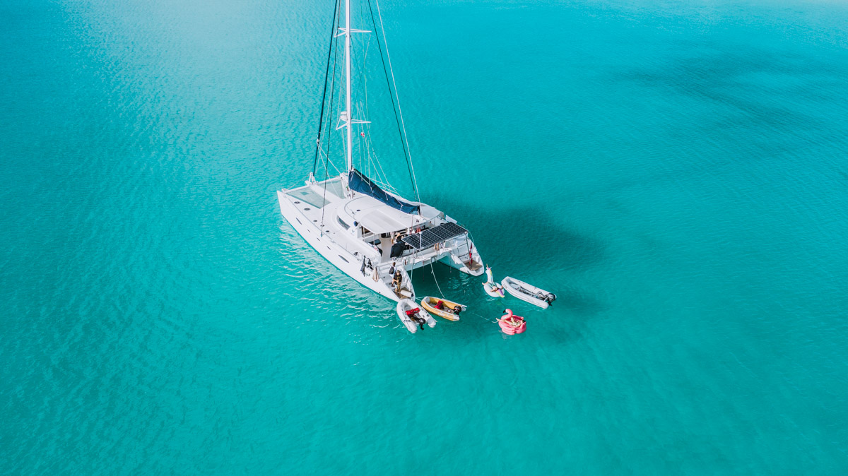 Anchored with visitors