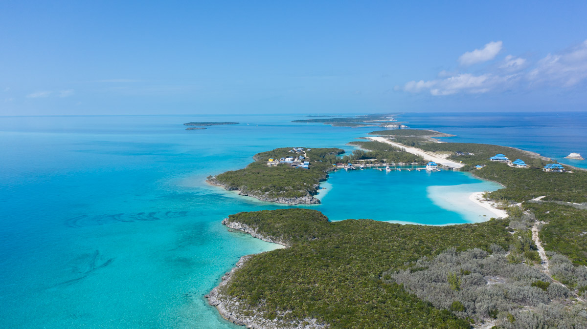 Safe Harbour Marina in Cave Cay, Bahamas