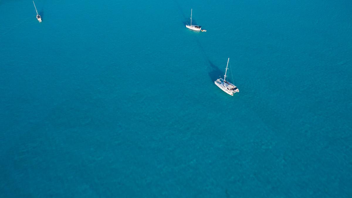 Seamlessly anchored in Calabash Bay, Bahamas