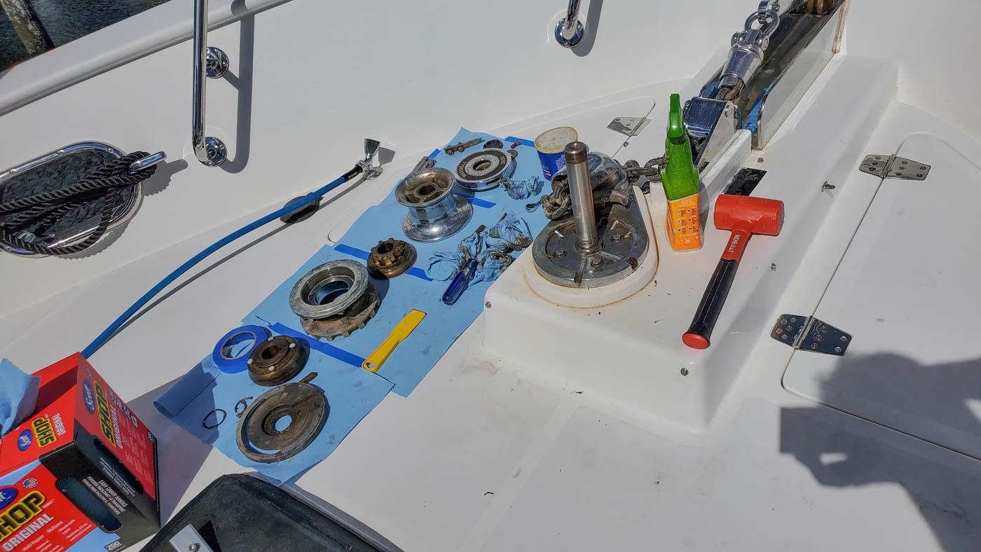 Rebuilding the windlass