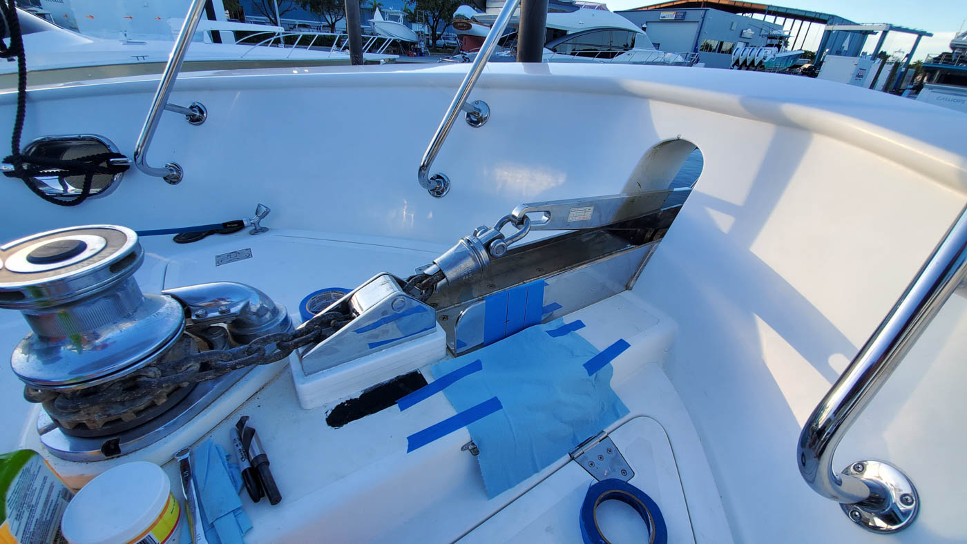 Drilling a pin hole for anchor safety pin