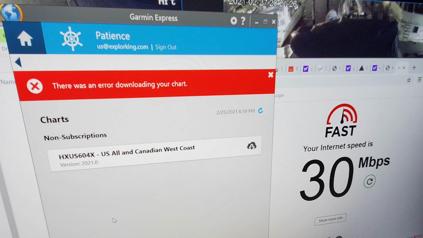 Download attempts on PC with Garmin Express
