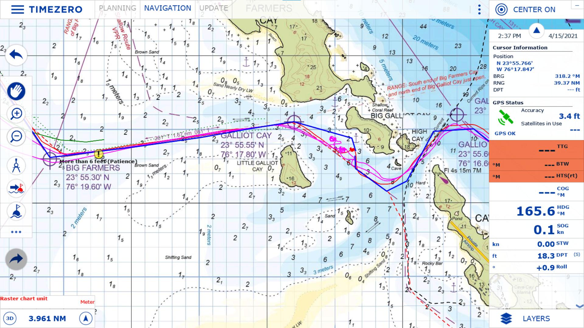 TimeZero showing a section using ExplorerCharts charts